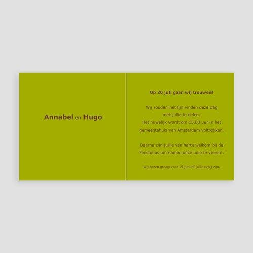 Trouwkaarten - Mosgroen verborgen 11392 thumb