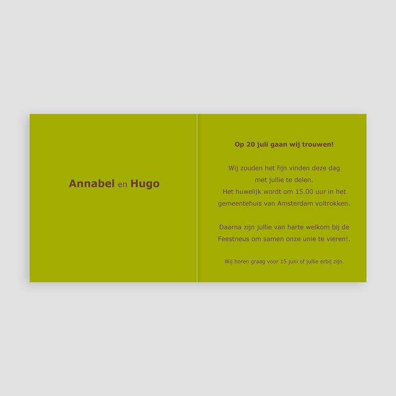 Trouwkaarten Groen - Mosgroen verborgen 11392 thumb