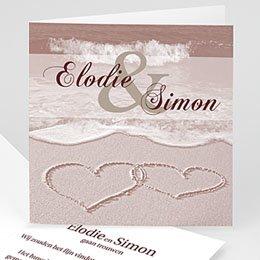 Personaliseerbare trouwkaarten - Huwelijk in sepia - 1