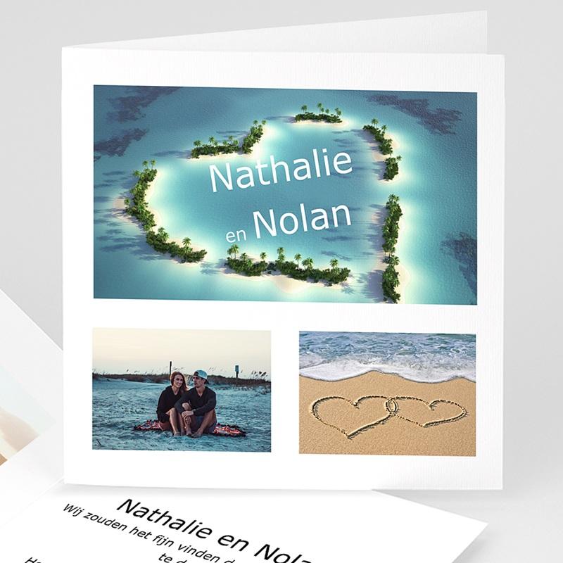 Trouwkaarten met foto - De huwelijksreis 11399 thumb