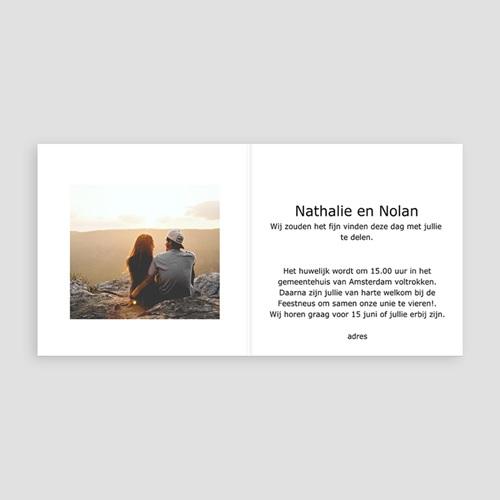 Trouwkaarten met Foto De huwelijksreis pas cher