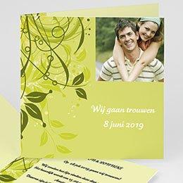 Aankondiging Huwelijk Frisgroen huwelijk