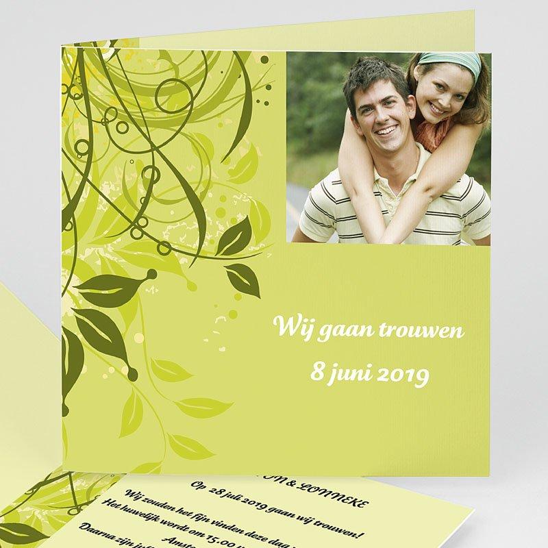 Trouwkaarten Groen - Frisgroen huwelijk 11401 thumb