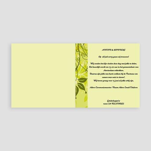 Trouwkaarten Groen - Frisgroen huwelijk 11402 thumb