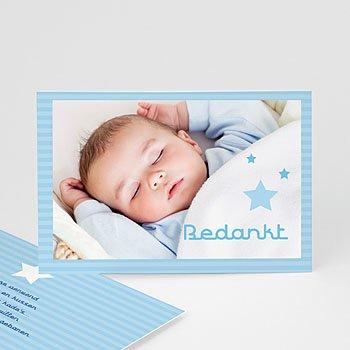 Bedankkaartje geboorte zoon - Tussen de sterren - 1