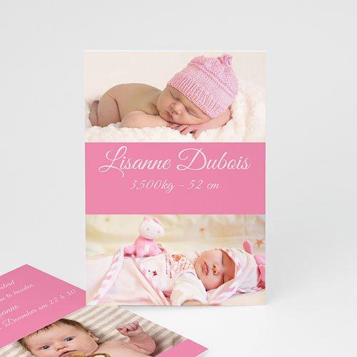 Geboortekaartje meisje Fel roze