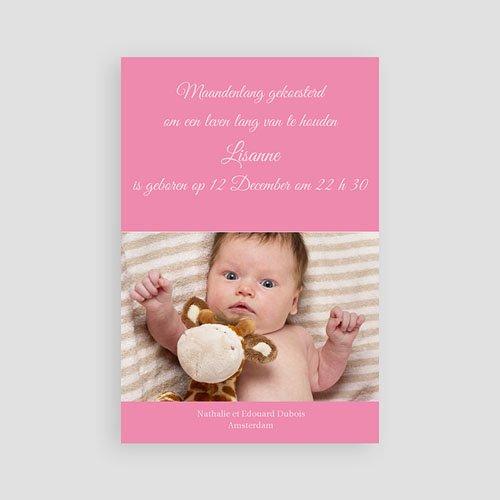 Geboortekaartje meisje Fel roze pas cher