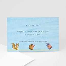 Bedankkaartje geboorte zoon Jongetje tussen de dieren