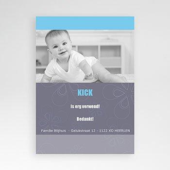 Bedankkaartje geboorte zoon - Elegant en teder, jongetje - 1