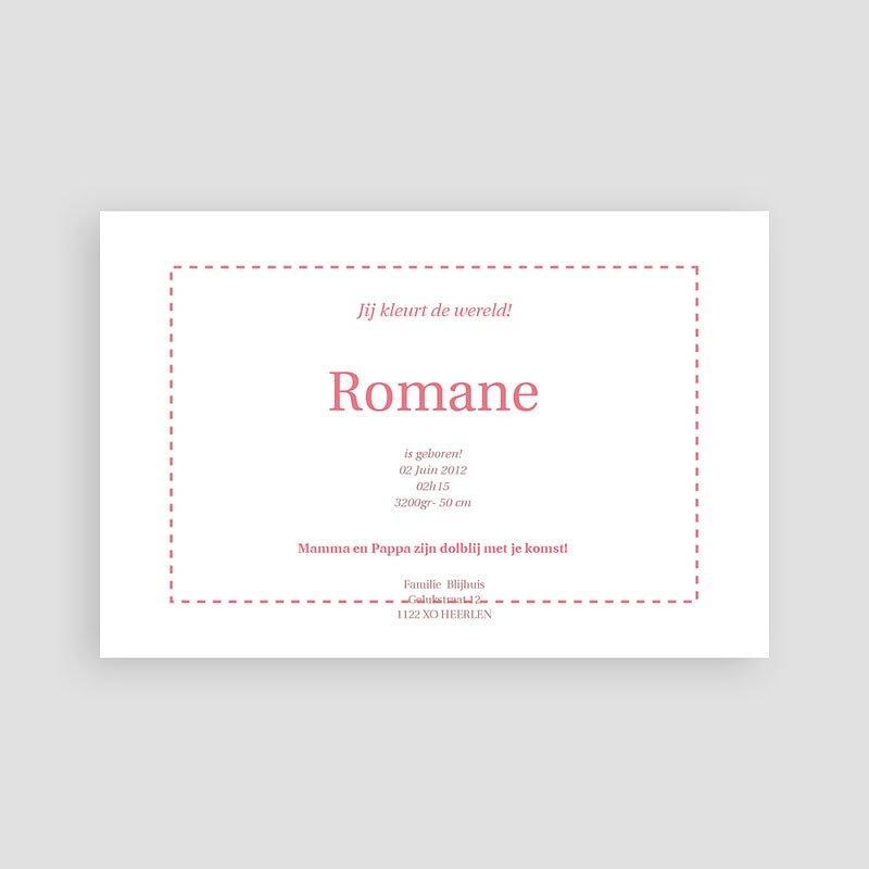 Geboortekaartje meisje - Rode rozen 11456 thumb