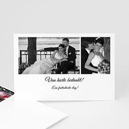 Bedankkaartjes huwelijk - Confetti vierkant - 1