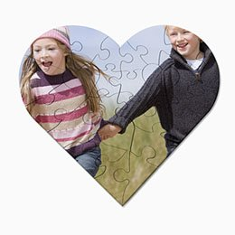 Personaliseerbare puzzel - Foto puzzel, hartvorm - 1