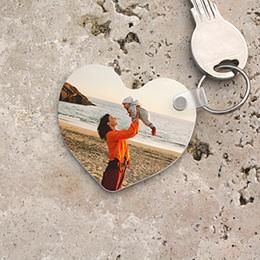 Gepersonaliseerde Foto Sleutelhanger - Sleutelhanger hartvorm - 1