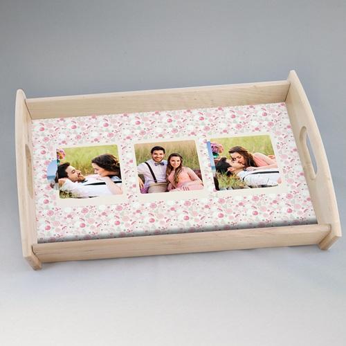Dienbladen - Fotokado in roze 11497 thumb