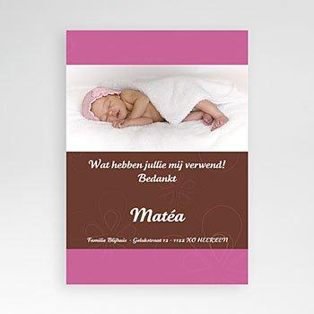 Bedankkaartje geboorte dochter - Dochtertje met chocolade - 1