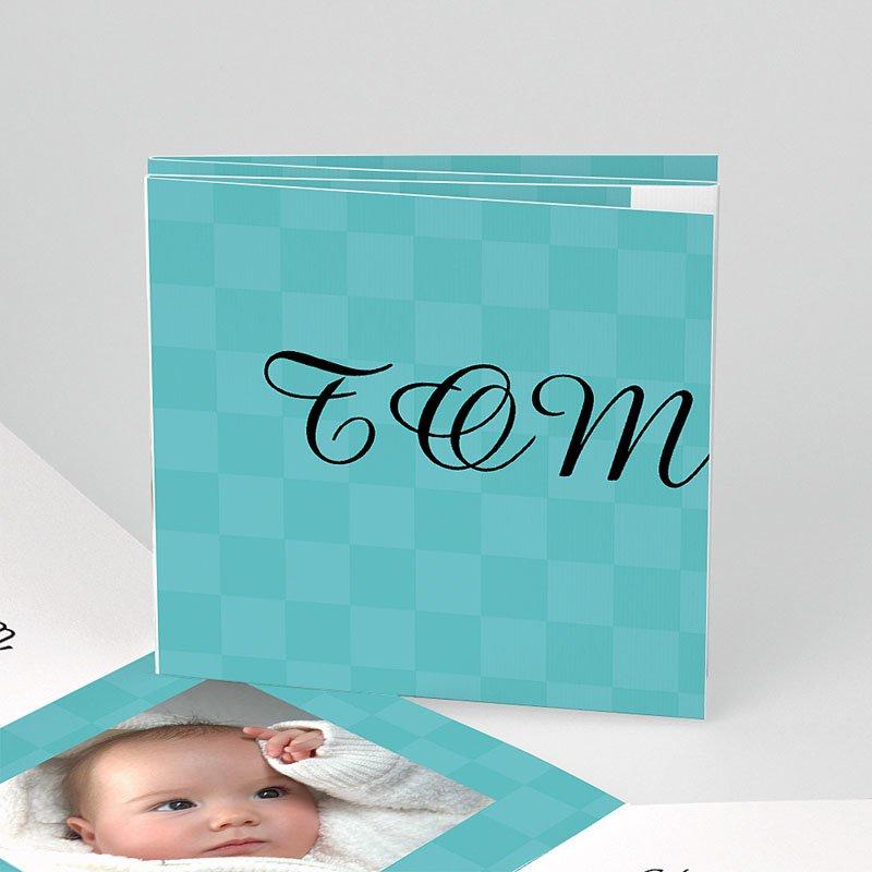 Geboortekaartje meisje - Azuurblauw zonnetje 11536 thumb