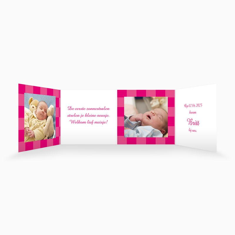 Geboortekaartjes Meisje Roze zonnetje pas cher