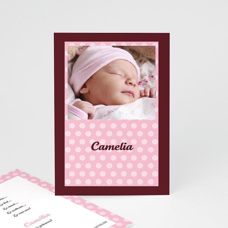 Geboortekaartje meisje Roze en chocolade