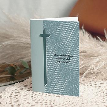 Bedankkaarten overlijden, Christelijk - Steenmotief - 1