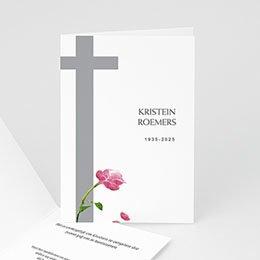 Aankondiging Décès Chrétien Met rode roos