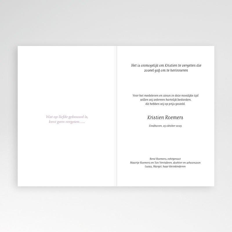 Bedankkaarten overlijden, Christelijk - Met rode roos 11643 thumb