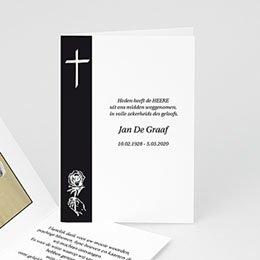 Bedankkaartjes Décès Chrétien Traditie zwart-wit