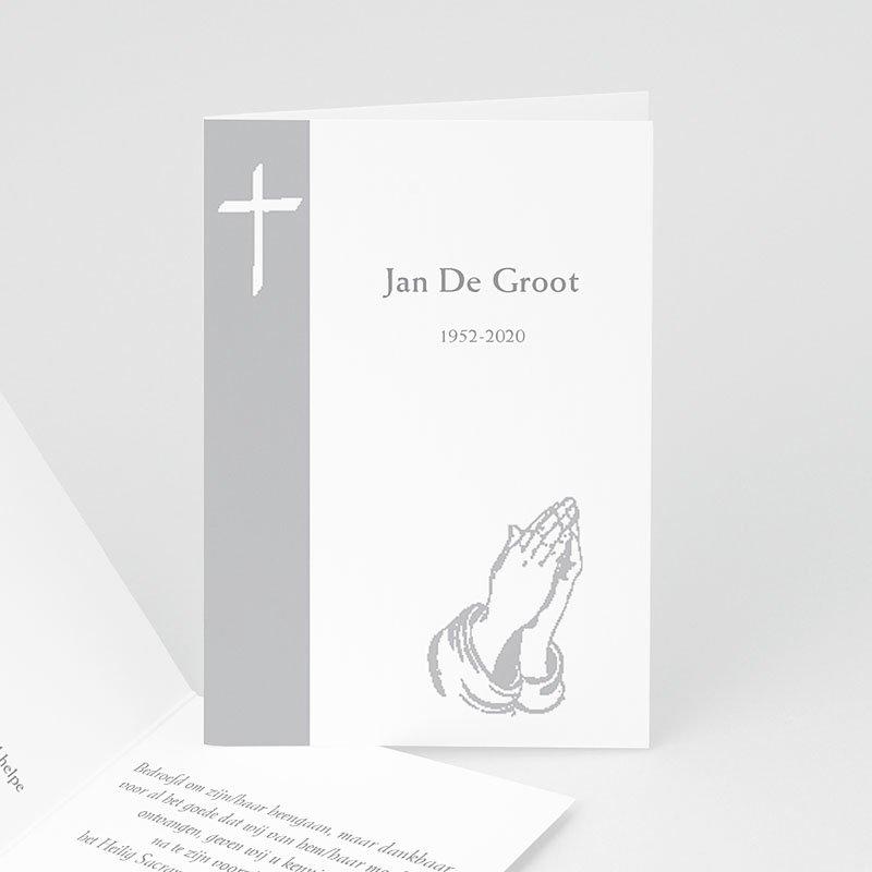 Bedankkaarten overlijden, Christelijk Gebed in grijs