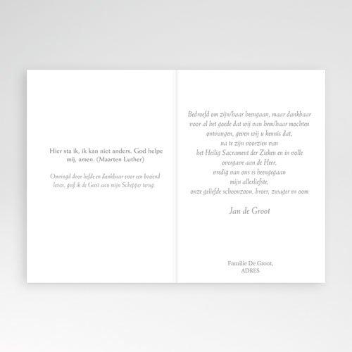 Bedankkaarten overlijden, Christelijk Gebed in grijs pas cher