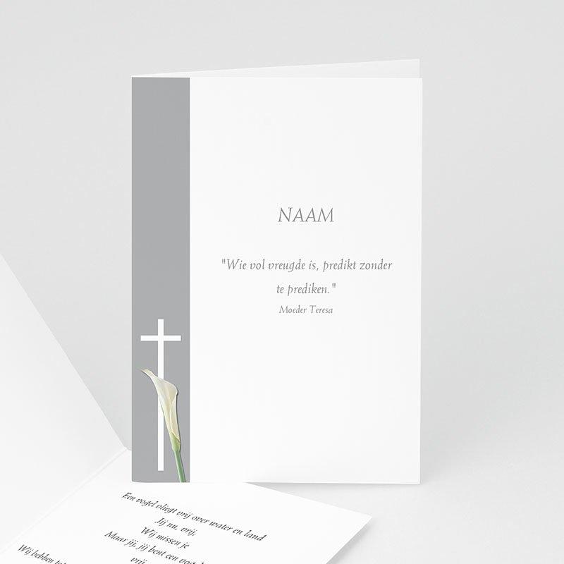 Christelijke Bedankkaartjes Overlijden Lichtgrijs met aronskelk