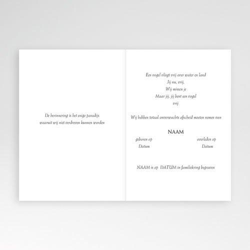 Bedankkaarten overlijden, Christelijk Lichtgrijs met aronskelk pas cher