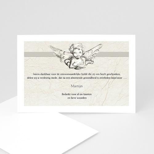 Rouwkaarten Engel reliëf 2