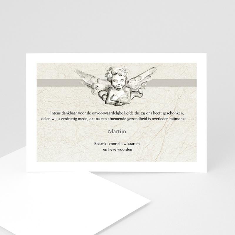 Bedankkaartjes Overlijden Engel reliëf 2