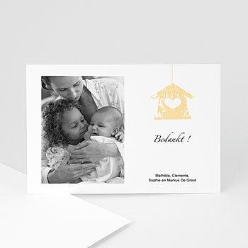 Bedankkaartje geboorte dochter - Kijk mij eens - 1