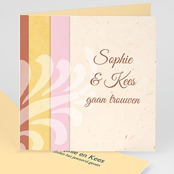 Personaliseerbare trouwkaarten - Pastelliefde - 1