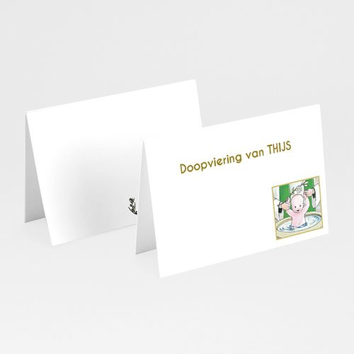 Tafelkaartjes Doop Illustratie doopsel