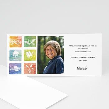 Uitnodiging communie meisje - Met trots gedoopt - 1