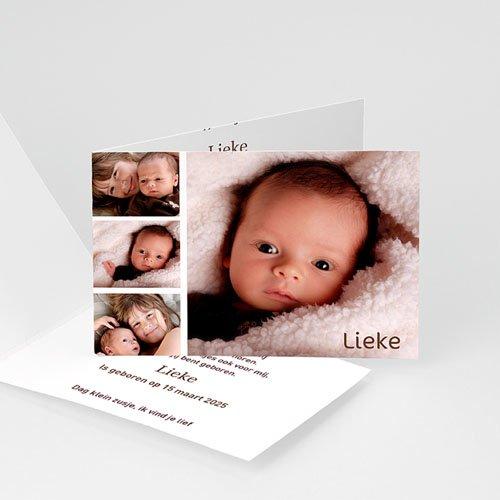 Geboortekaartje meisje - Even voorstellen 11698 thumb