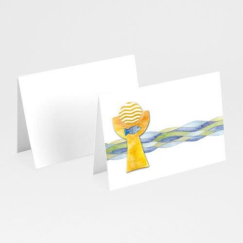 Plaatskaartjes Communie Fresco van doopsel