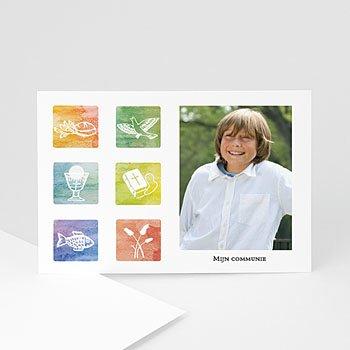 Bedankkaart communie meisje - Met trots gedoopt - 1