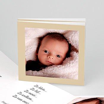 Geboortekaartje meisje - Open album - 1