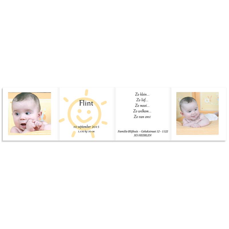 Geboortekaartje meisje - Open album 11726 thumb