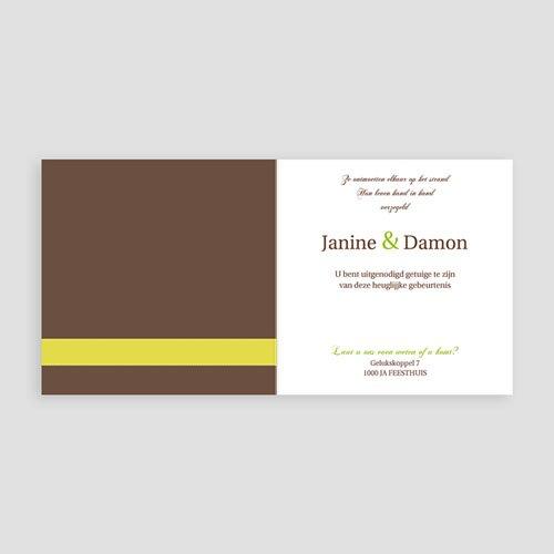 Natuur - Bruin en geel kaartje 11746 thumb