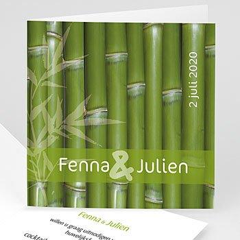 Originele trouwkaarten - Bamboe huwelijk - 1
