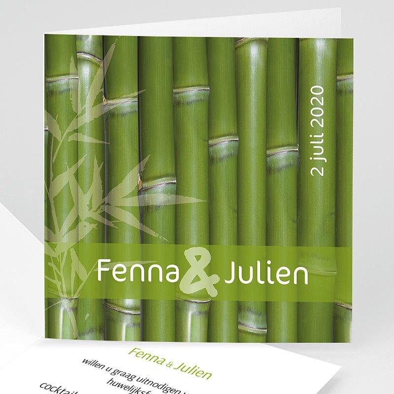 Originele Trouwkaarten Bamboe huwelijk