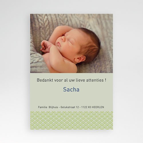 Bedankkaartje geboorte dochter Mijn komst