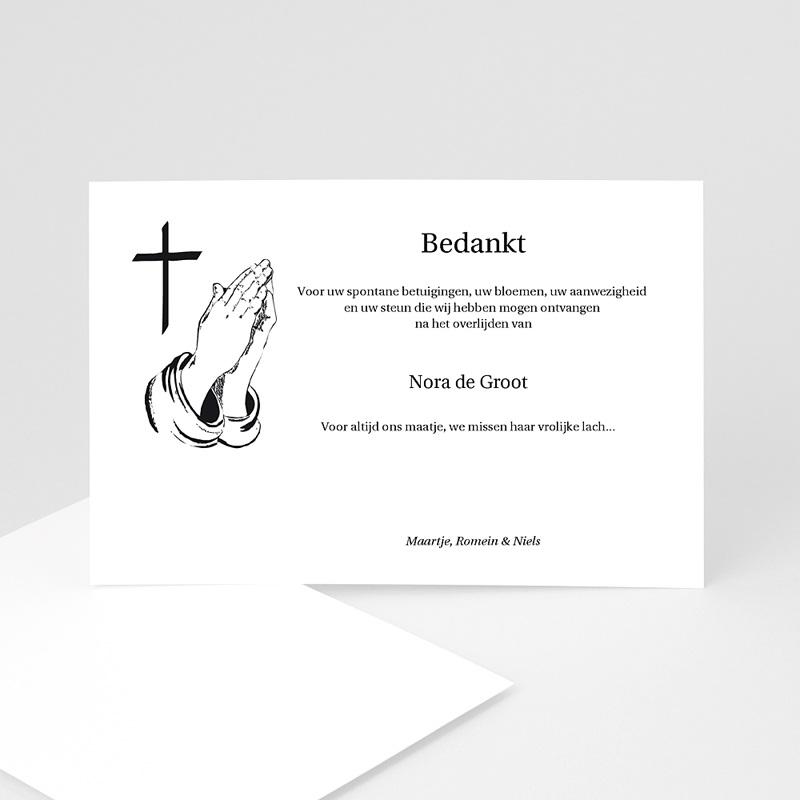 Bedankkaarten overlijden, Christelijk Kalligrafie