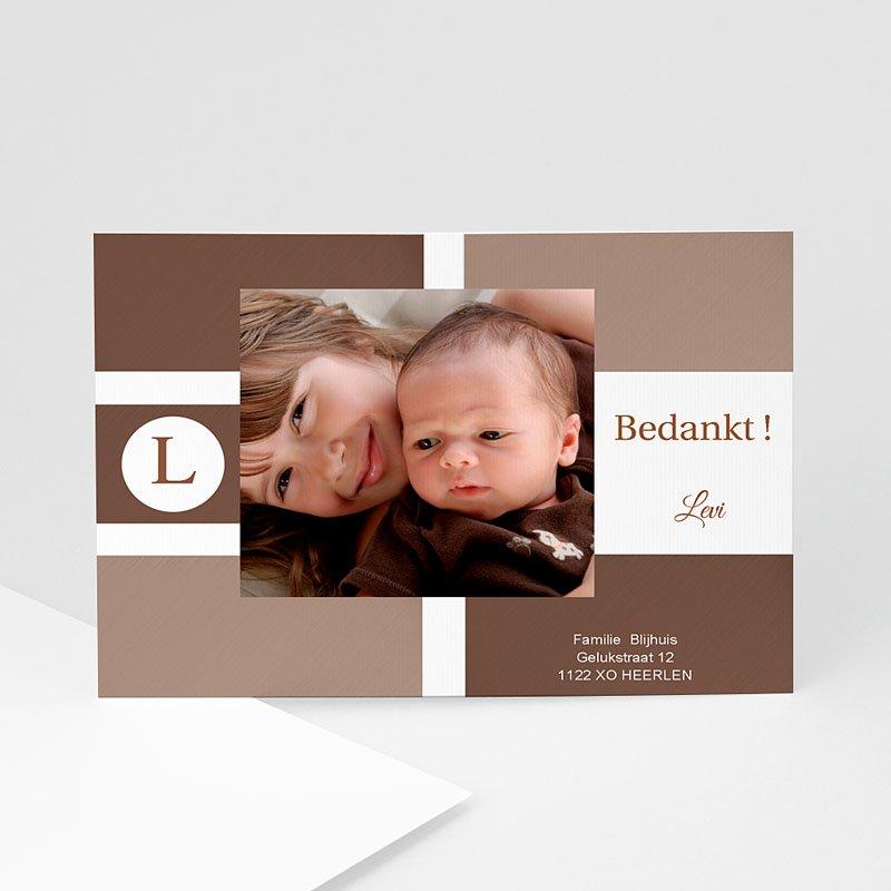 Bedankkaartje geboorte zoon - Puur natuur 11755 thumb