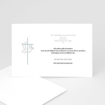 Bedankkaarten overlijden, Christelijk Met vrede heen