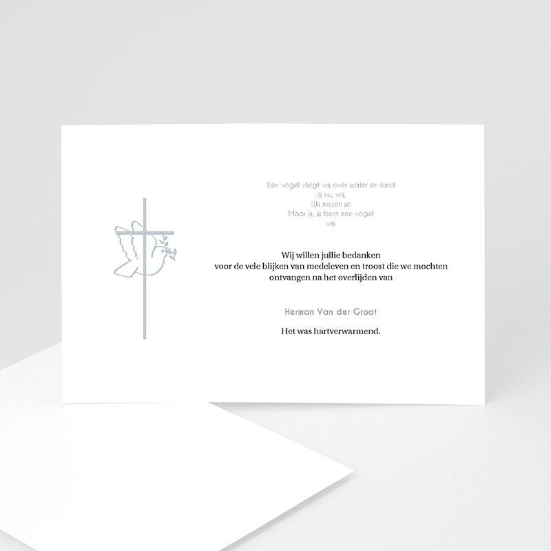 Bedankkaarten overlijden, Christelijk - Met vrede heen 11767 thumb