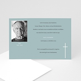Aankondiging Décès Chrétien Onsterfelijke gedachte